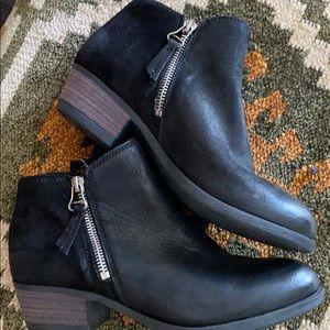 Miz Mooz Leather Ankle Boot W/zipper Bangkok Sz 36